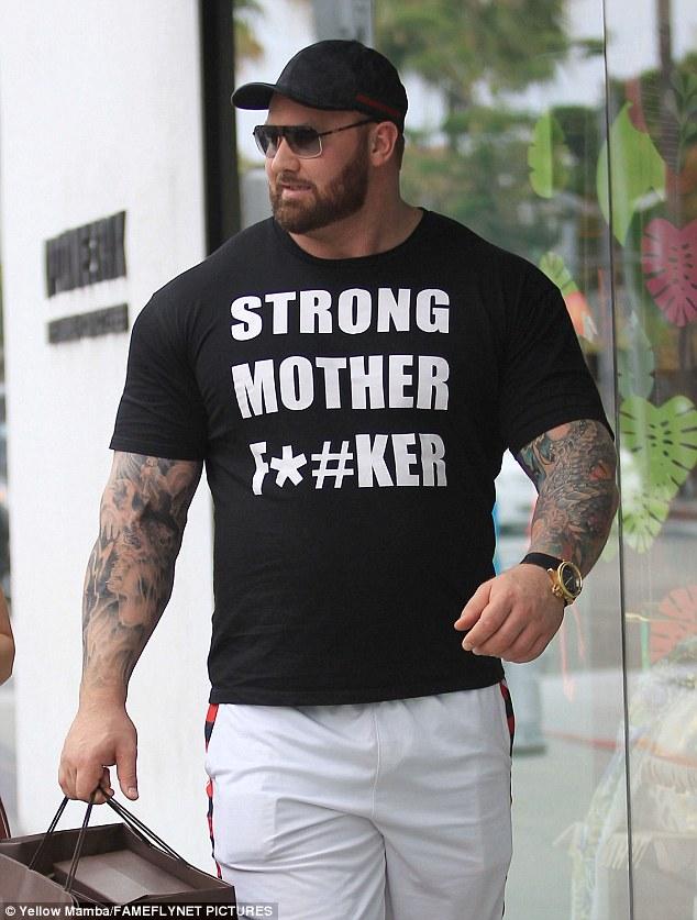 hafthor bjornsson t shirt