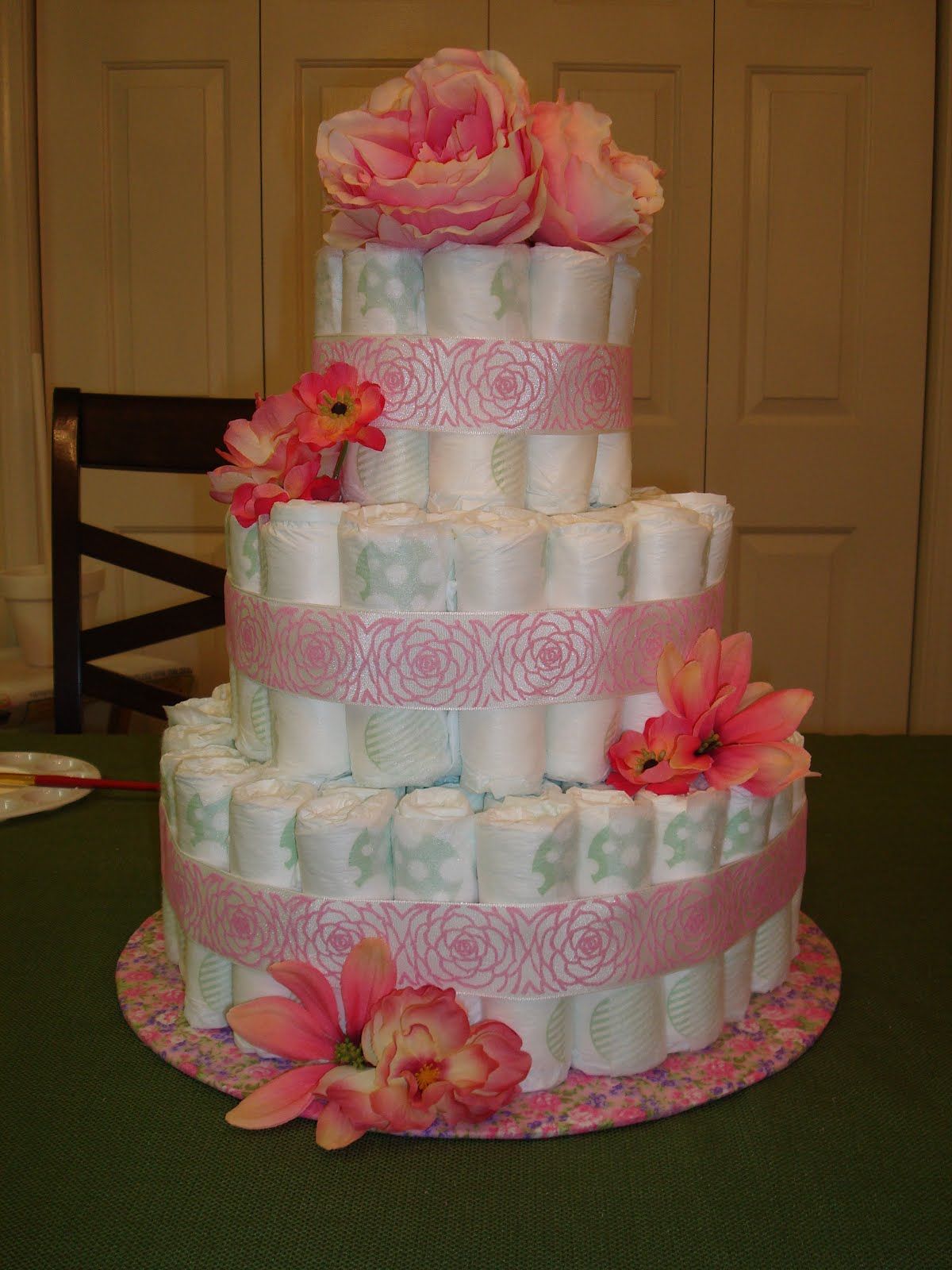 A Day In The Life Of Preachmans Wife Diaper Cake Tutorial