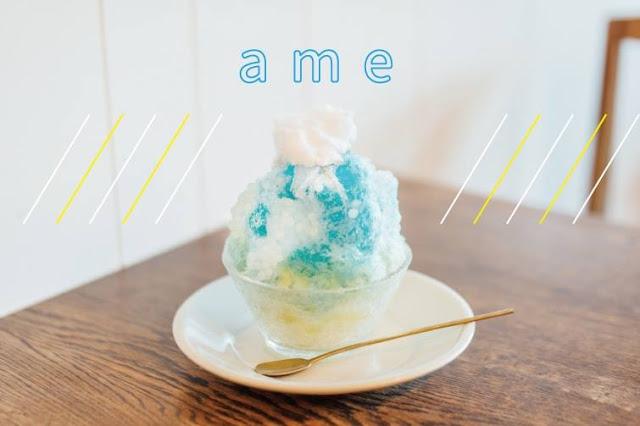 Swan鵝牌極致鵝絨日式刨冰機 鵝絨雪花冰機 #給愛好蔬食的你的刨冰提案 #寫真教室裡的烏雲密布刨冰-swan-kakigori-Photography-studio-cafe-nana-tsumori-rainingday-blue-color-syrup