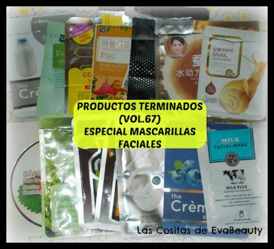 productos terminados especial mascarillas faciales de tissú low cost