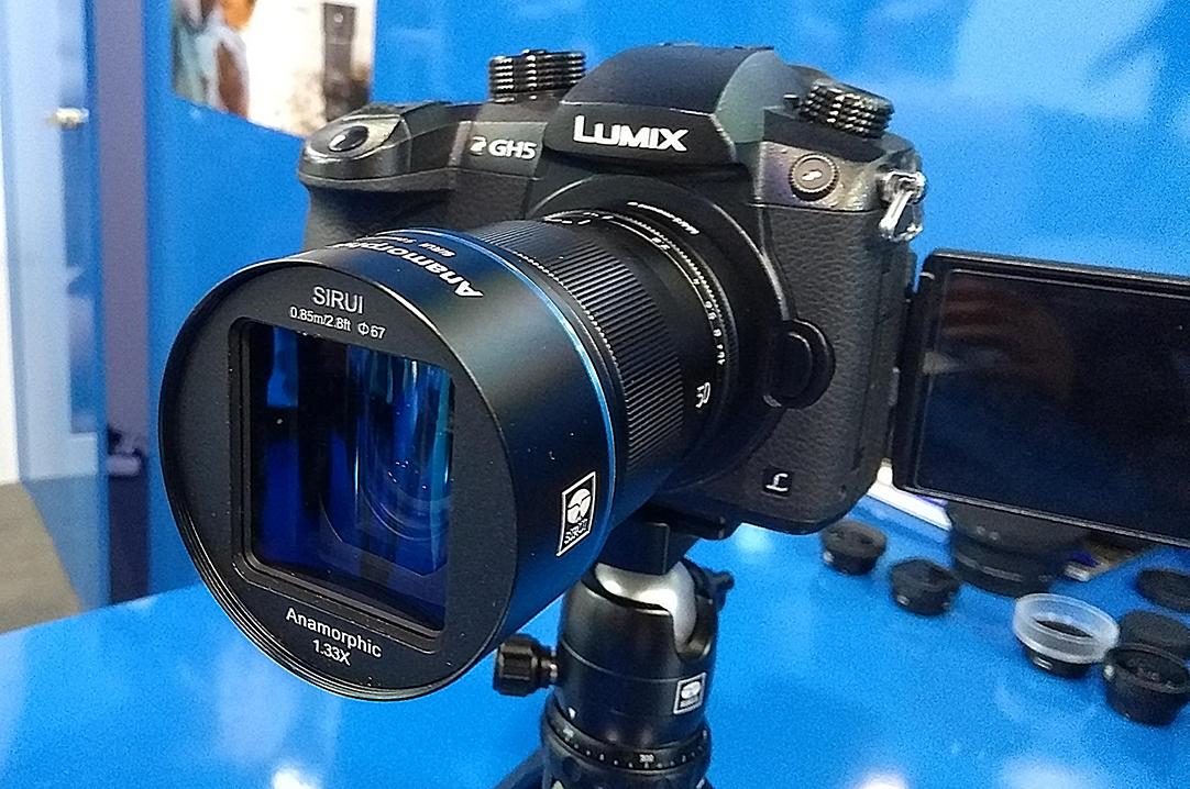 Объектив Sirui 50mm f/1.8 1.33x Anamorphot с камерой Panasonic Lumix GH5