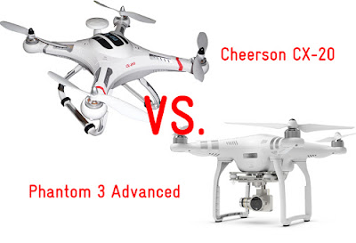 DJI Phantom 3 vs. Cheerson CX-20