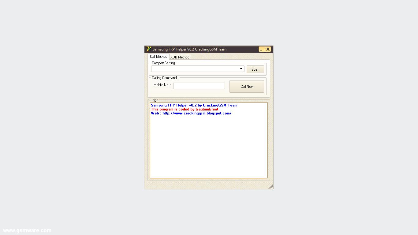 Samsung FRP Helper Tool V0.2 by CrackingGSM Team