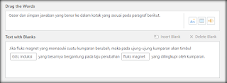 Contoh soal Drag the Words