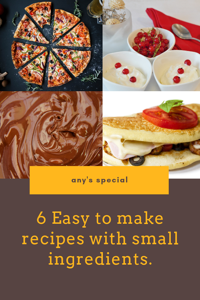 6 Easy To Make Snacks Recipes With Small Ingredients.