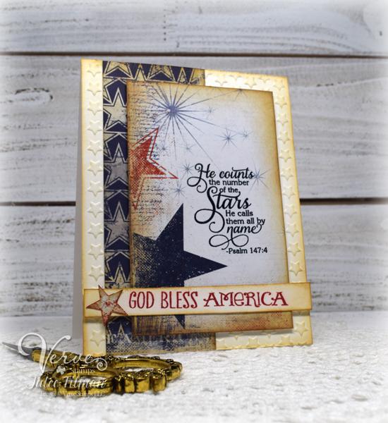 Handmade Americana card by Julee Tilman. www.poeticartistry.blogspot.com