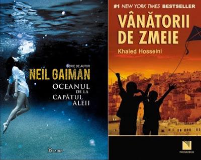 Oceanul de la capătul aleii de Neil Gaiman și Vânătorii de zmeie de Khaled Hosseini