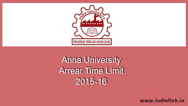 Anna University Arrear Time Limit 2016 grace period