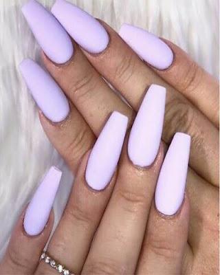 coffin nails long colors pastel purple