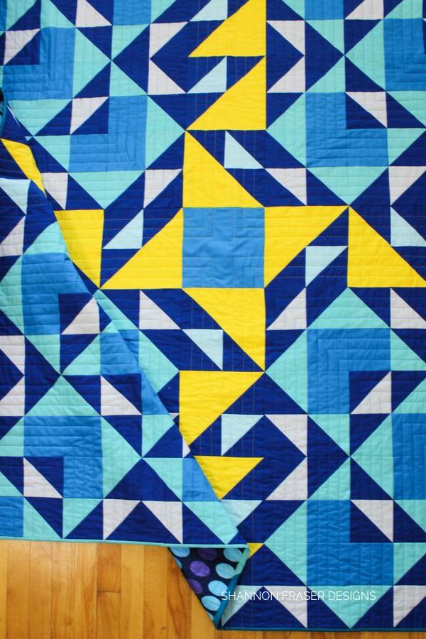 Double Windmill Quilt | Modern Beginner Quilt Pattern | Shannon Fraser Designs #quilts #quilting #modernquilt