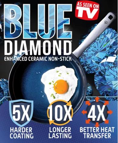 "MACYS -Blue Diamond As Seen on TV! 10"" Open Fry Pan $9.99 After $10 Mail-In Rebate"