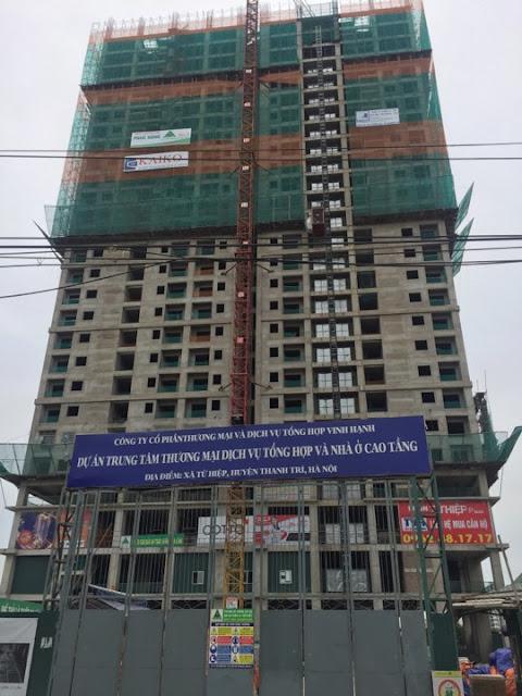 Hình ảnh tiến độ thi công xây dựng của Tứ Hiệp Plaza cập nhật ngày 12/08/2017