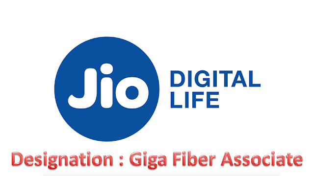 Reliance Jio Hiring Freshers for Giga Fiber Associate