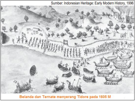 Belanda dan Ternate menyerang Tidore pada 1605 M