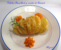Patatas Hasselback , rosetón de Boniato