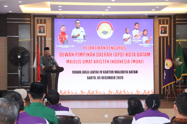 Syamsul Hadiri Pelantikan DPD MUKI Batam