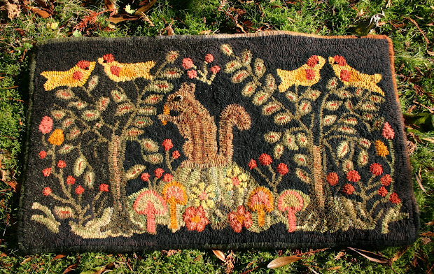 Mouse Droppings Adaption Of French Canadian Hooked Rug