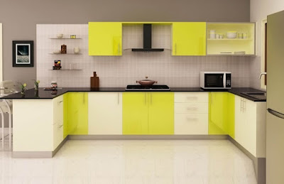 yellow modern kitchen designs ideas cabinets colors for 2018 2019 homes