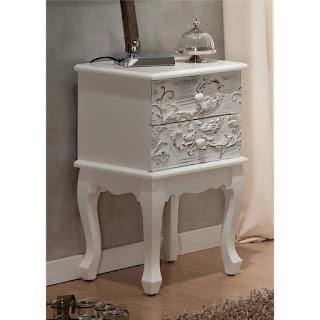 mesilla dormitorio blanco decape