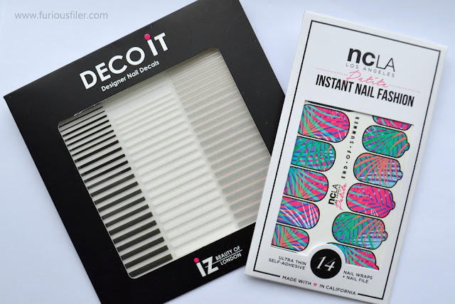 ncla nail wraps end of summer meebox stickers