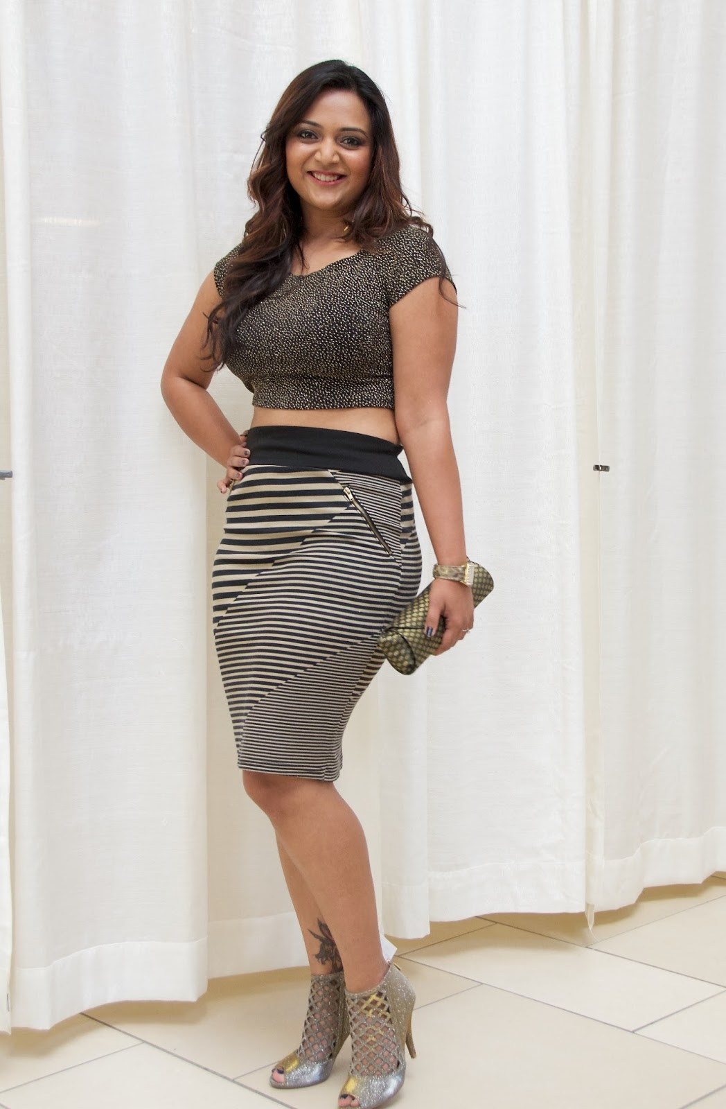 crop top and pencil skirt ananya tales