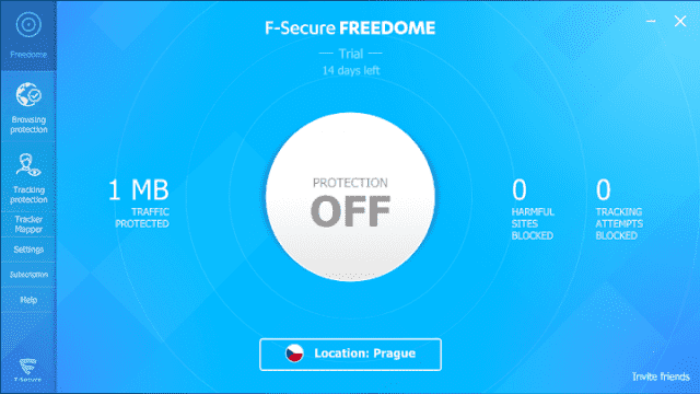 Screenshot F-Secure Freedome VPN 2.32.6293 With Trial Reset