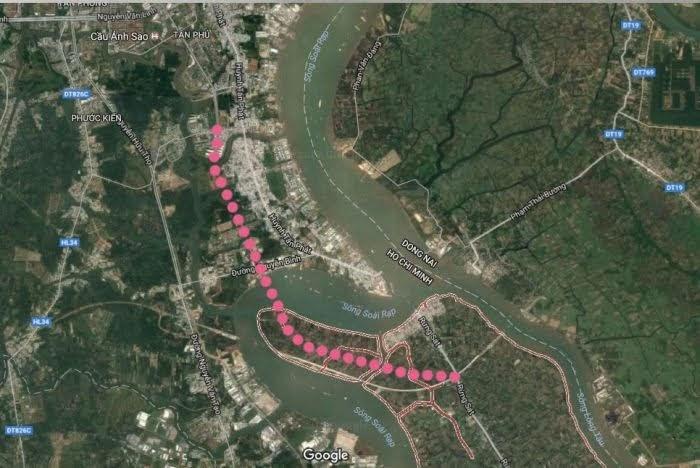 Vị trí Cầu cần giờ xã Bình Khánh