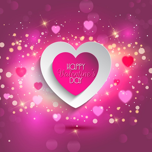 Valentine's Day love paper greeting cards free vector graphics