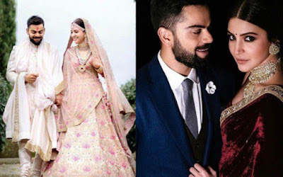 Virat kholi and Anushka Sharma
