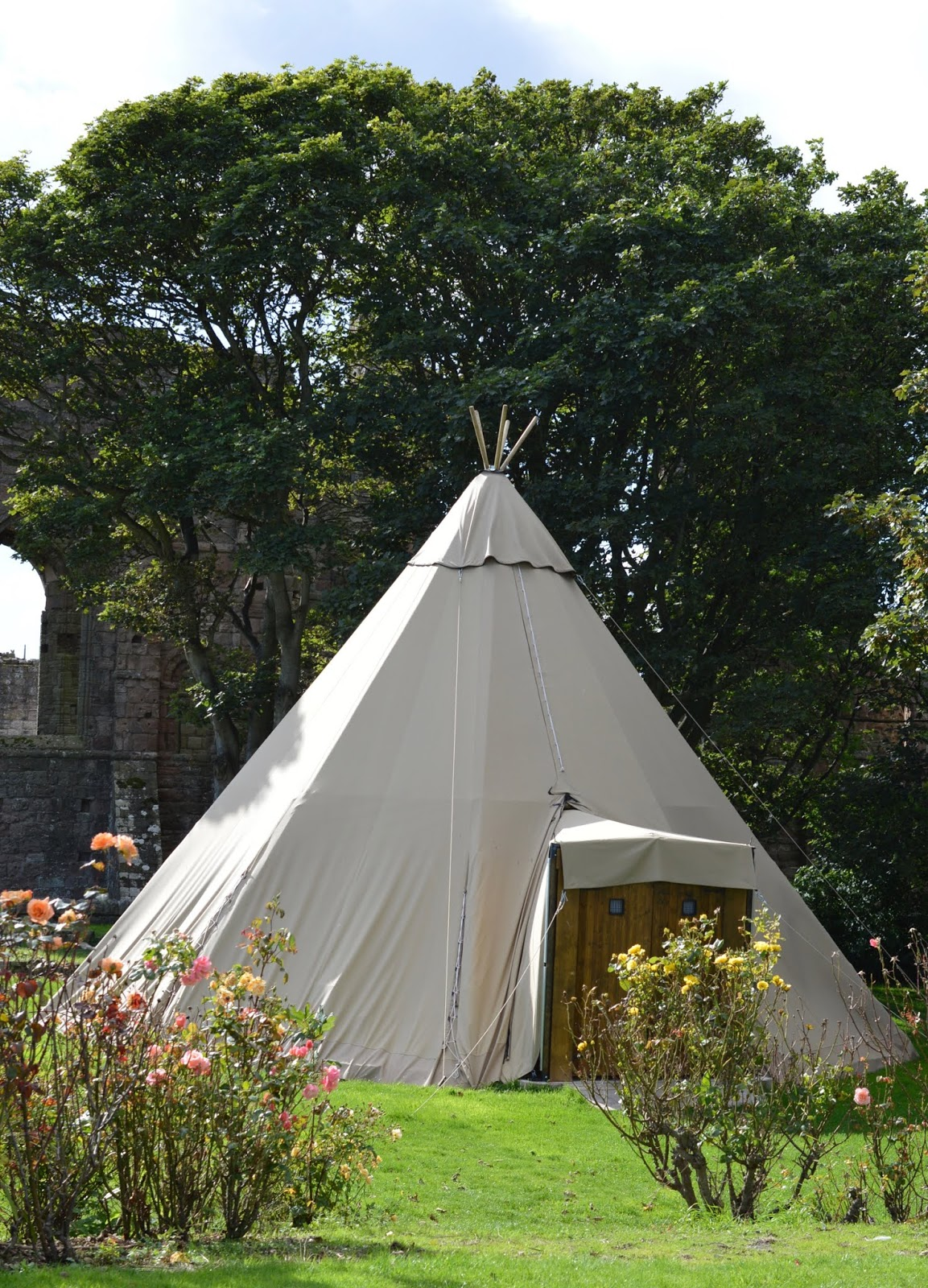 The Holy Island of Lindisfarne, Northumberland - what to see and do during a half day visit - the manor house hotel oyster bar tipi