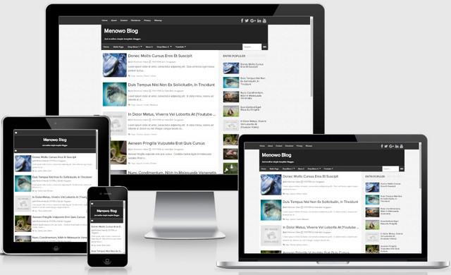 Menowo Simple Responsive Blogger Templates