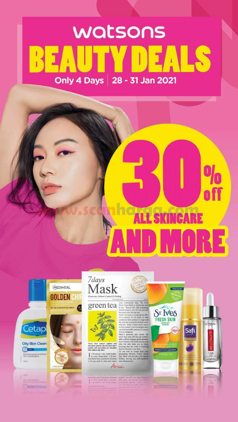 Promo WATSONS Katalog Beauty Deals – Dapatkan Diskon 50% & BELI 1 GRATIS 1