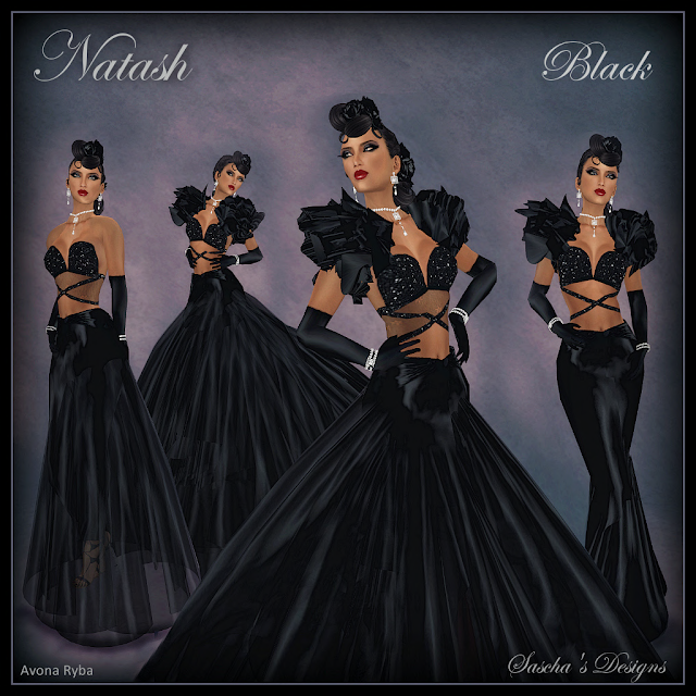 SASCHA'S DESIGNS - Gown on Special & 60 L Secret items