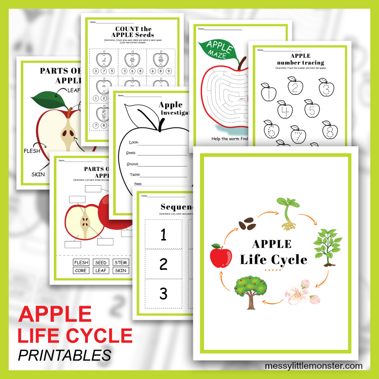printable apple activities for kids