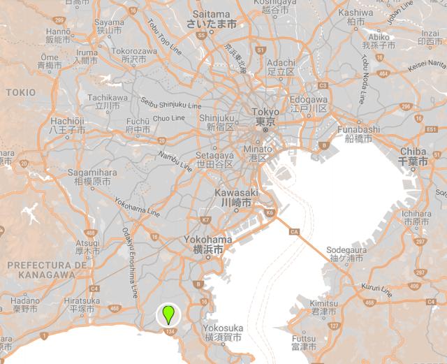Localización Kamakura excursión desde Tokio