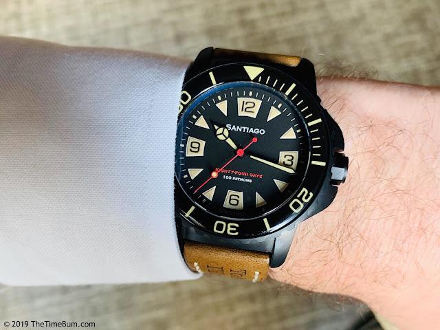 Undone Aqua Pro-Custom Time Bum Santiago wrist