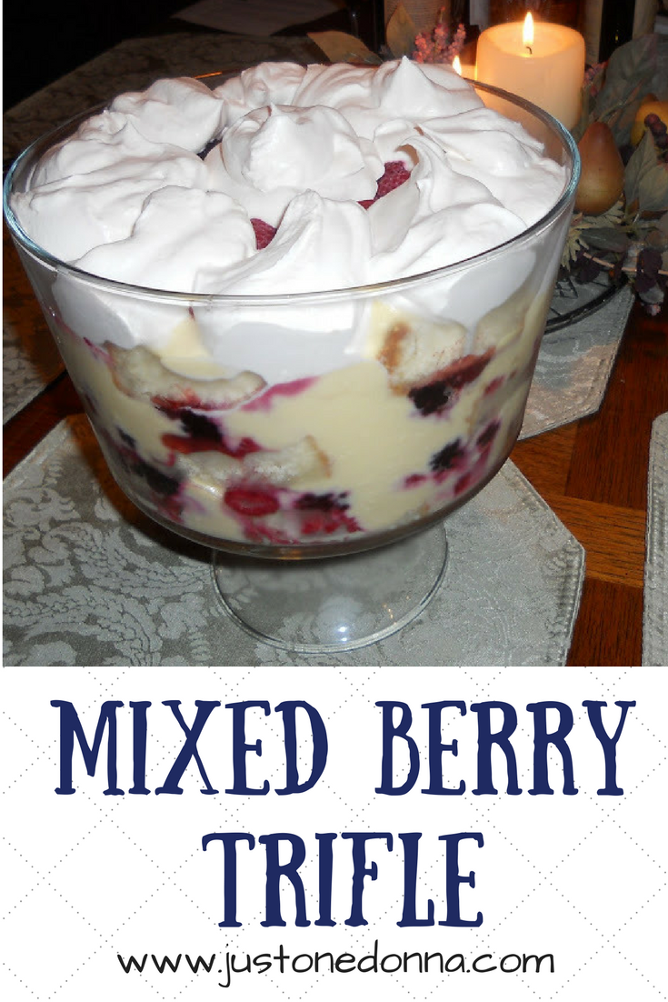 Make a mixed berry trifle for an impressive dessert to end a special ...