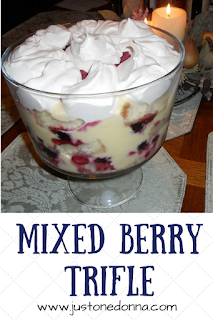 A Mixed Berry Trifle is an impressive dessert.