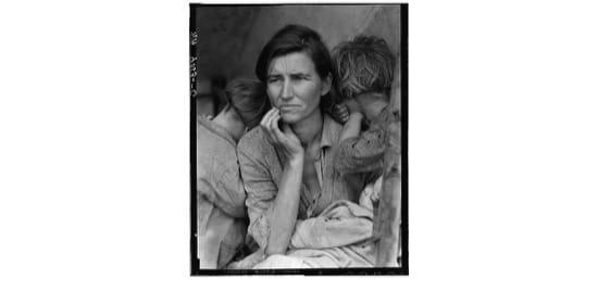 Florence Thompson, conocida como la madre migrante, con tres de sus hijos. Foto de Dorothea Lange
