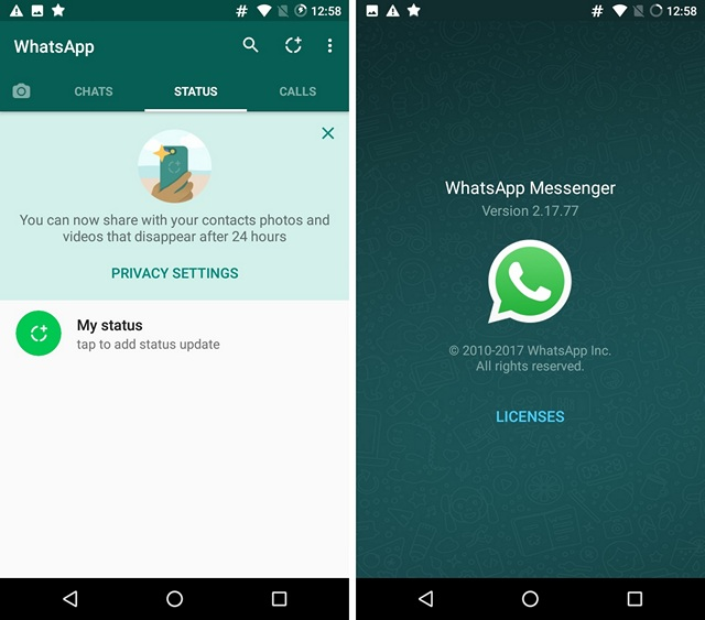 Tech World: Get old WhatsApp text status back