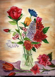 En güzel Sulu boya çalışmaları resimleri tabloları