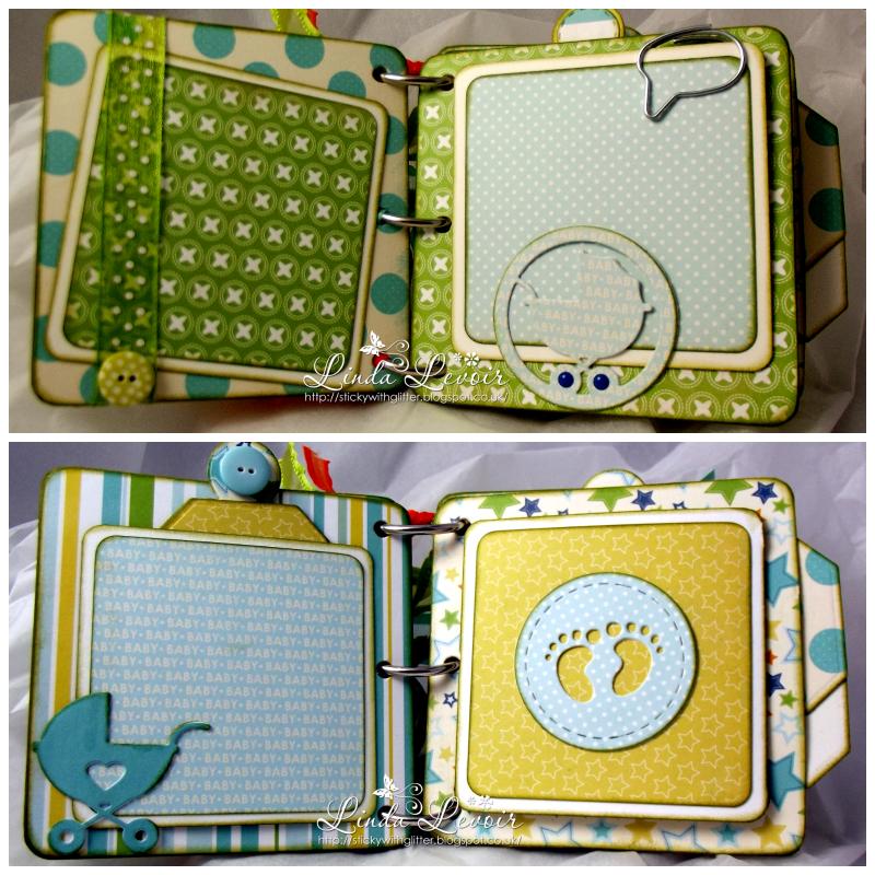 Swg Design By Linda Levoir Baby Mine Boy Mini Album