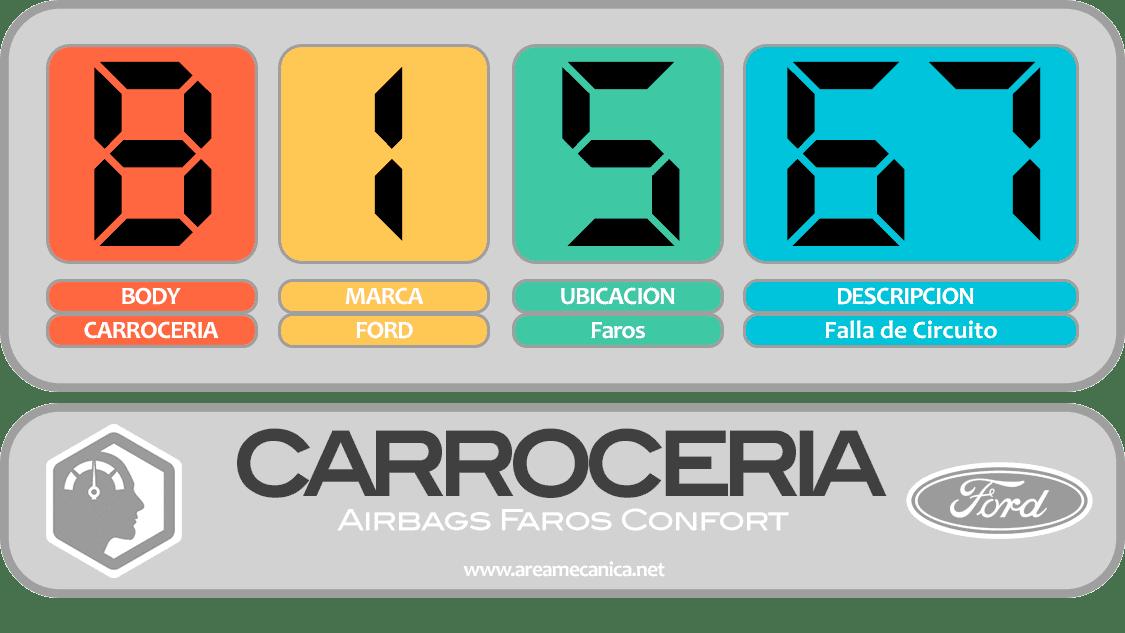 CODIGOS DE FALLA: Ford (B1500-B15FF) Carrocería | OBD2 | DTC