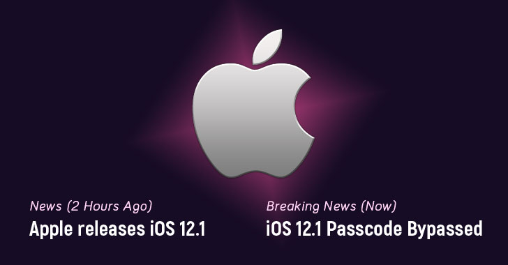 New iPhone Passcode Bypass Found Hours After Apple Releases iOS 12 1