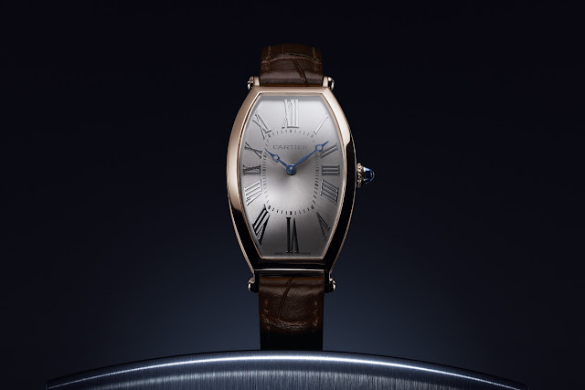 Cartier Privé Collection, Tonneau watches 2019. In pink gold.