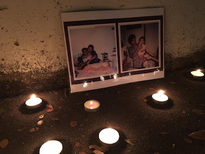 Candle vigil outside Singapore's Changi prison on a execution night.