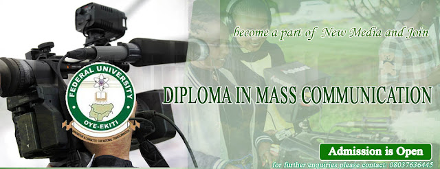 FUOYE Diploma in Mass Communication Admission Form 2020/2021