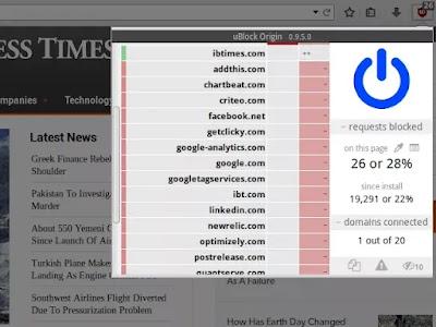 أفضل أدوات منع الإعلانات: Ublock Origin
