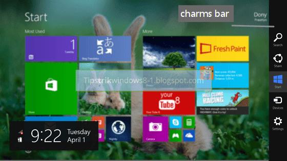 charms bar di windows 8.1
