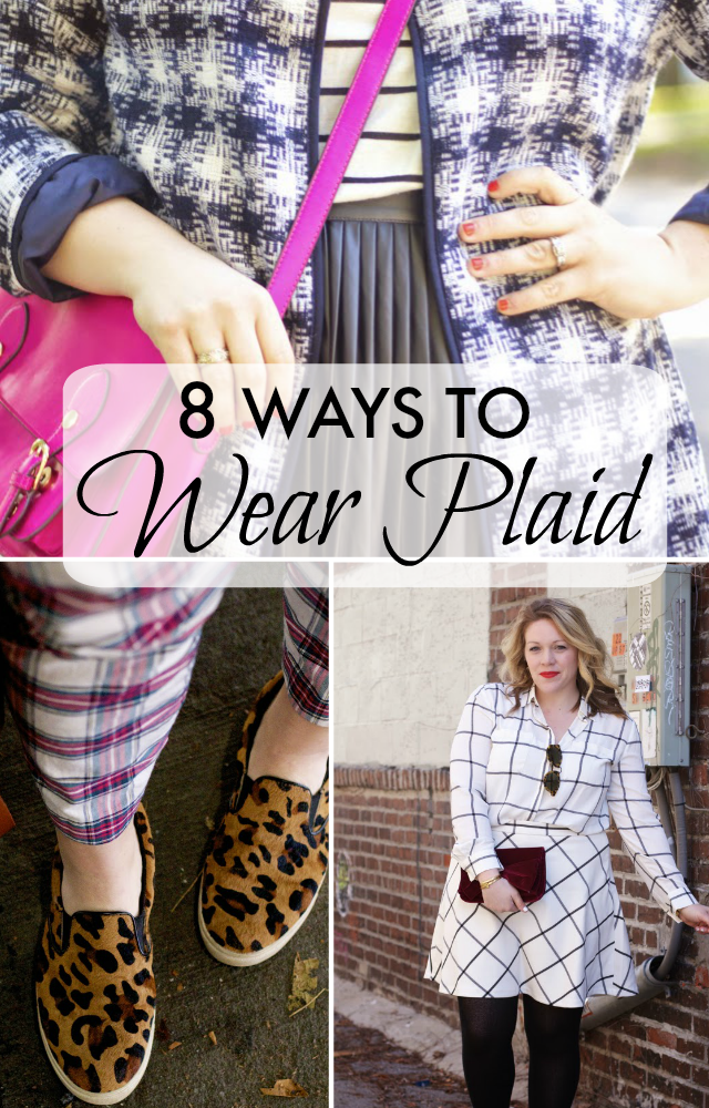 how to wear plaid
